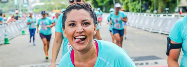 A corrida ajudou Thais a vencer o câncer