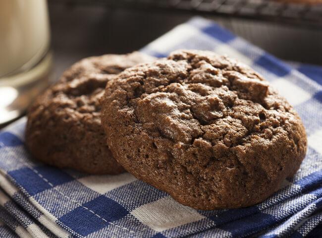 Receita de cookie de cacau sem açucar
