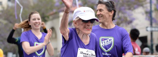 meia maratonista mais velha do mundo