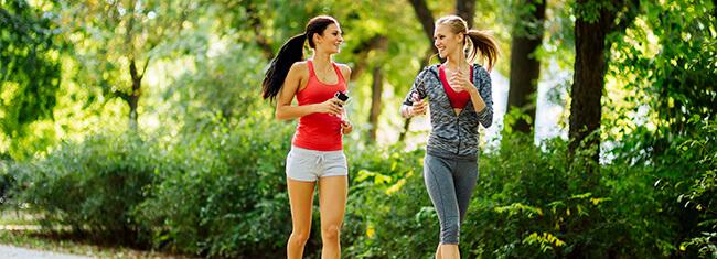 correr com os amigos
