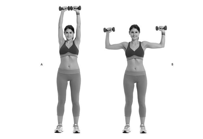 Desenvolvimento de ombros com halteres