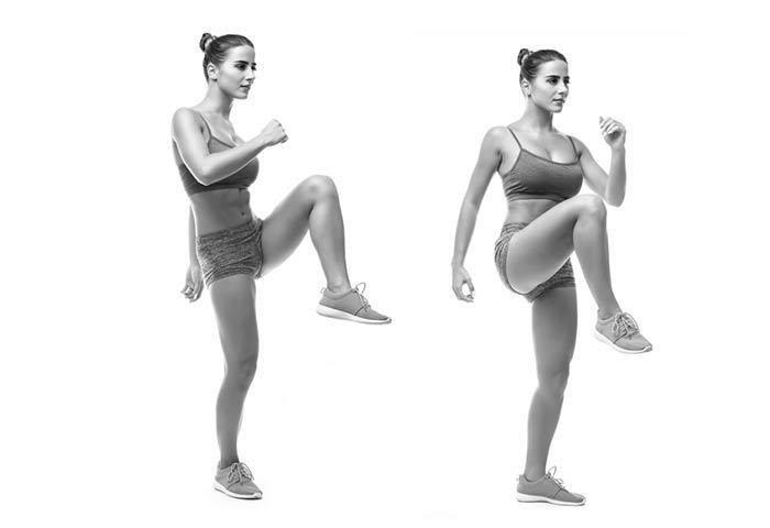 Como fazer elevação de joelho