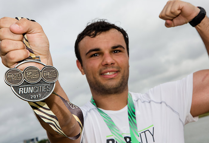 Medalha tripla do run cities