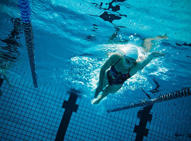 natação e corrida