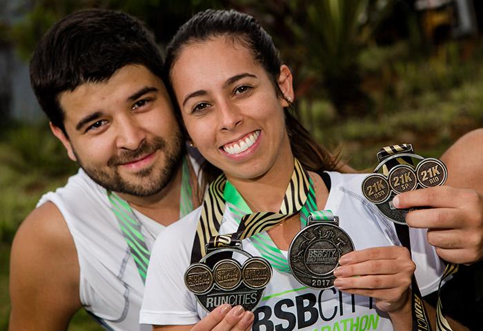 Medalha tripla do run cities