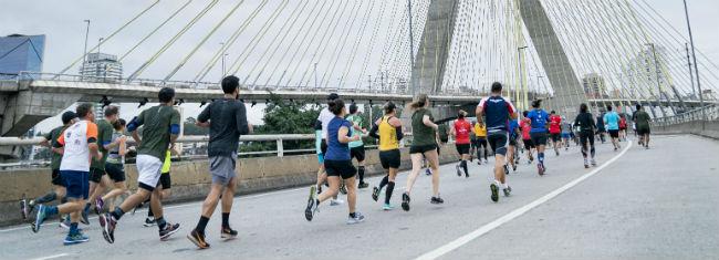 Trecho da Seven Run 2019, em São Paulo