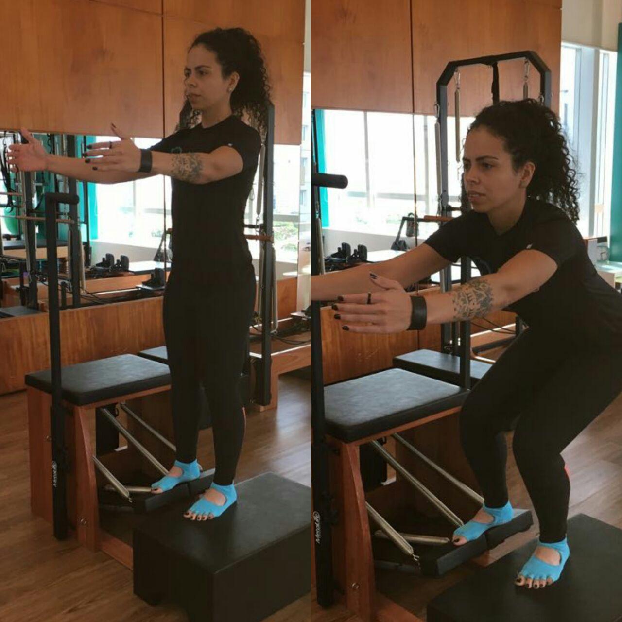 Agachamento com instabilidade na chair
