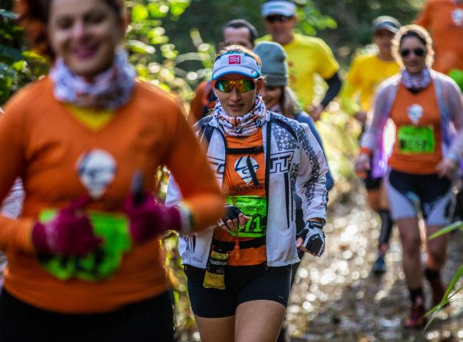 Participantes da Landscape Trail Run Montanhas do Japi, em Jundiaí (SP)