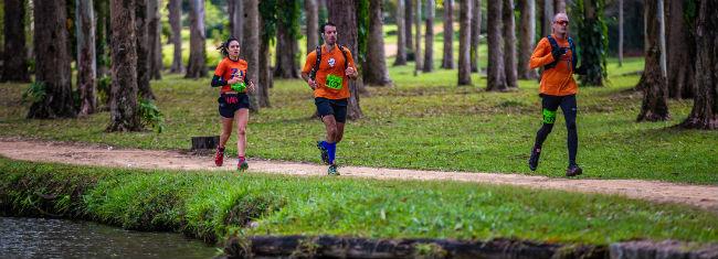 Participantes da prova Landscape Trail Run nas montanhas do Japi, em julho de 2019